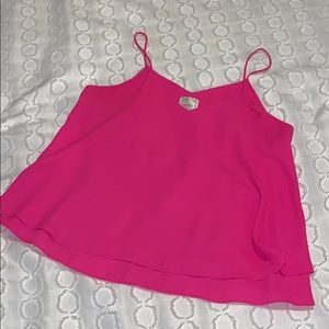 Pink cami blouse.